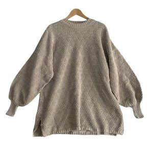Chris Triola Crew Neck Chunky Sweater USA Made Vintage Size Large Wearable Art